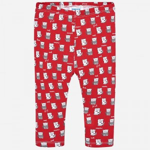 49fe647c4d98d Czerwone legginsy Mayoral z nadrukiem kotków dla dziewczynki