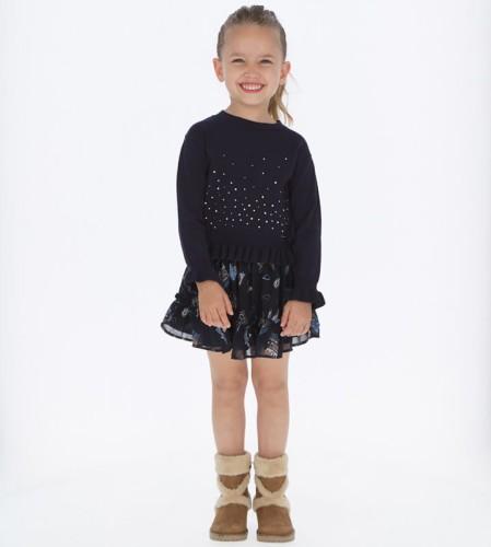 Szyfonowa spódnica Mayoral z nadrukiem dla dziewczynki