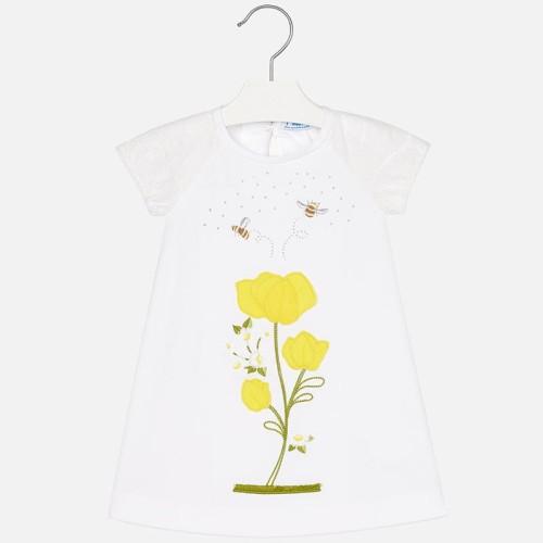 1bb9f41539 Biała sukienka Mayoral z haftowanymi kwiatami dla dziewczynki. 3944-93- sukienka-mayoral-z-haftowanymi-kwiatkami-dla-