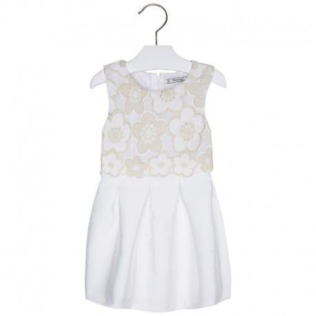 d39fde6015 → Kremowa sukienka Mayoral z haftem dla dziewczynki Mayoral ...