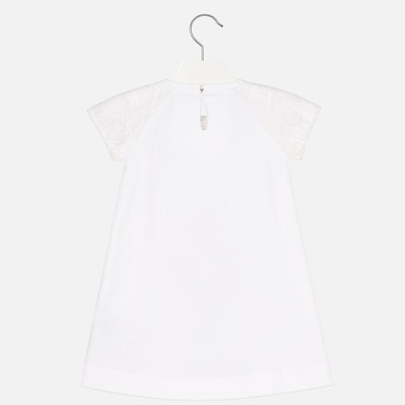 b897d041a1 → Biała sukienka Mayoral z haftowanymi kwiatami dla dziewczynki ...